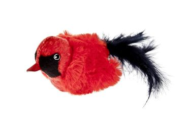 CIP-CIP RED BIRD W/FEATHERS 8CM