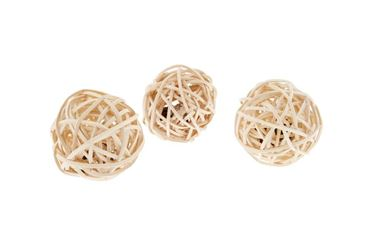 WICKER BALL CATNIP 5CM 6PCS