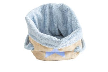 Изображение PADDED BASKET JUTE 29X38CM  BLUE