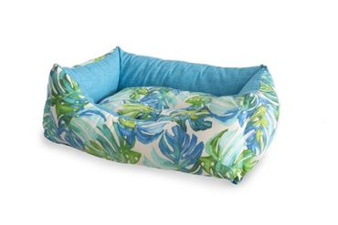 RECT.TROPICAL DOGBED L 80X63CM 1PCS LIGH