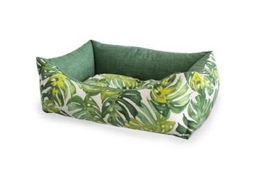 RECT.TROPICAL DOGBED M 70X55CM 1PCS GREE