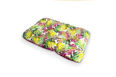 RECT.TROPICAL PILLOW L 90X62CM 1PCS PINK