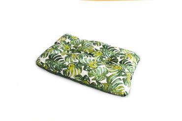 RECT.TROPICAL PILLOW L 90X62CM 1PCS GREE