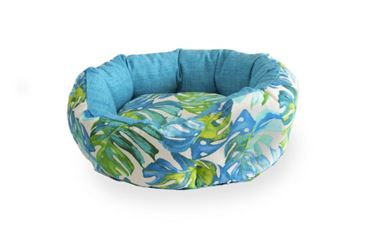 Bild von 3 OVAL TROPICAL DOGBEDS 40-50-60CM LIGHT