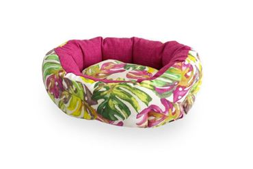 3 OVAL TROPICAL DOGBEDS 40-50-60CM PINK