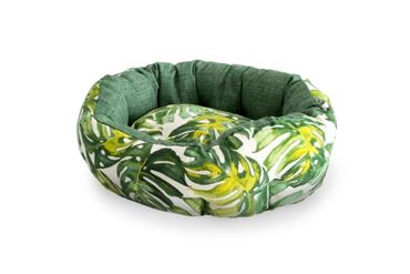 3 OVAL TROPICAL DOGBEDS 40-50-60CM GREEN