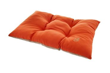 OREILLER BICOLORE 75X50CM ORANGE-MARRON