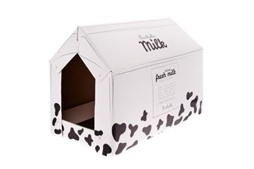 HOUSE CART. CAT TREE MILK 25X50X35