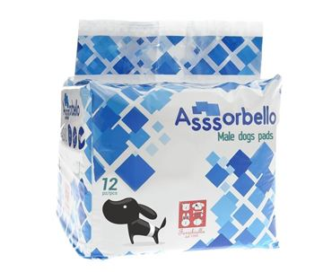 DIAPERS FOR MALE DOGS 66CM 1X12PCS