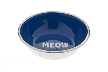 MEOW INOX BOWL 350ML BLUE