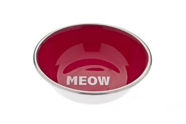 MEOW INOX BOWL 350ML RED