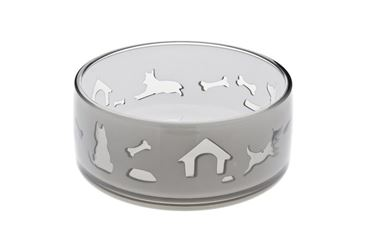 DUOWORLD CAT BOWL 330ML-11,8X5CM GREY