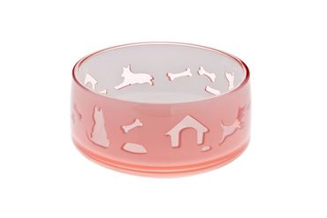 DUOWORLD CAT BOWL 330ML-11,8X5CM PINK