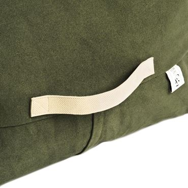 BANANA PILLOW BEANBAG 50X98X20CM GREEN