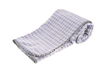 ROMBI BLANKET LIGHT BLUE 140X100CM
