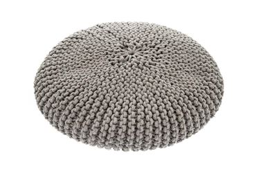 Изображение OFF MACRAMÉ POUF DOG BED 60X15CM GREY