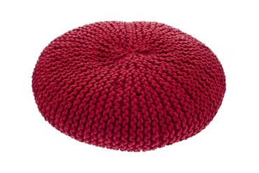 Изображение MACRAMÉ POUF DOG BED 60CM RED