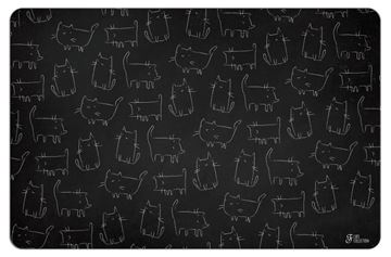 Bild von BLACKBOARD CATS MAT 43X28CM