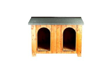 DOUBLE CHALET KENNEL 150X110X90HCM