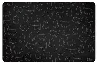 BLACKBOARD CATS MAT 43X28CM