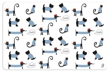 TAPIS HELLO DOGS & CATS 43X28CM
