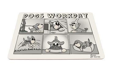 TAPPETINO CIOTOLE DOGS WORKDAY 43X30CM