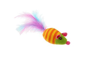 Bild von COLORED MOUSE WITH FEATHER 19CM