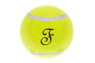 TENNIS BALL W/SQUEAKER 8CM