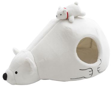 IGLOO WHITE BEAR 70X43CM H40CM