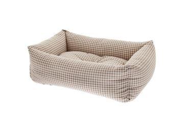 Bild von RECT. PET BEDS VICHY 2PCS 55-70CM BEIGE