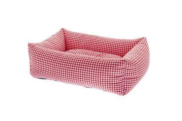 Bild von RECT. PET BEDS VICHY 2PCS 55-70CM RED